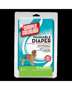 Simple Solution Washable Female Dog Diapers 1 count X-Large