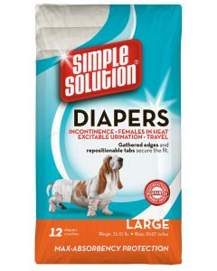 Simple Solution Disposable Diapers Large 12 Pack