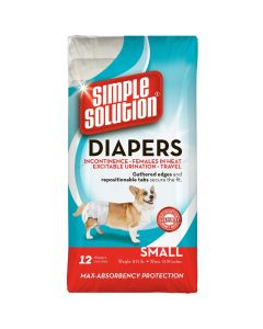 Simple Solution Disposable Diapers Small 12 Pack