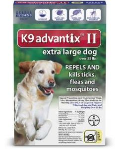 Bayer DVM Advantix II for X-Large Dogs Over 56lb, 6 Month Supply