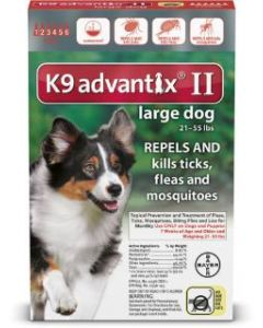 Bayer DVM Advantix II for Large Dogs 21-55lb, 6 Month Supply