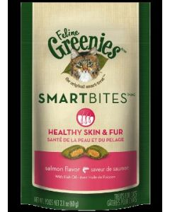 Greenies Healthy Skin & Fur Treats Salmon Flavor 2.1oz
