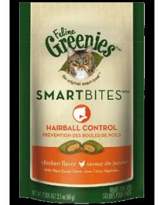 Greenies Hairball Control Treats Chicken Flavor 2.1oz