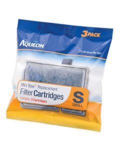 Aqueon MiniBow Replacement Filter Cartridges Small Pack of 3