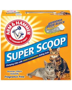 Arm Super Scoop Clumping Litter Fragrance Free 20lb