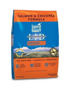 Natural Balance Salmon & Chickpea Indoor Dry Cat Food 10lb