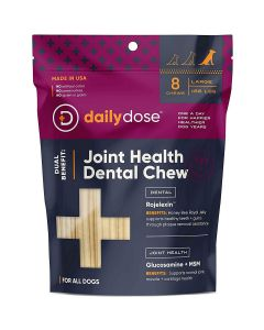 Daily Dose Pet  Joint Health Dental Chew Large 8Ct