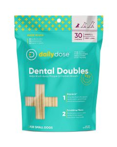 Daily Dose Pet Dental Doubles Small Breed 30Ct