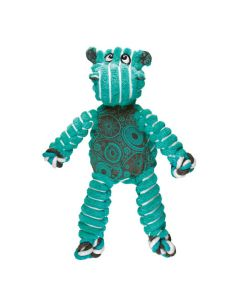 KONG Floppy Knots Hippo Dog Toy M/L Teal