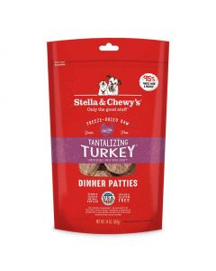 Stella and Chewys Tantalizing Turkey Freeze-Dried Dry Dog Food 5.5oz