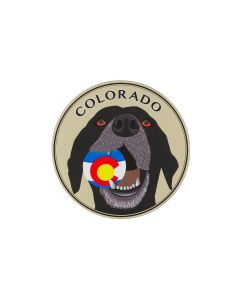 Colorado Proud Dog With Ball Car Magnet