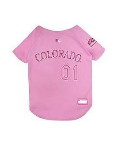 Pets First Colorado Rockies Jersey Pet Gear Small