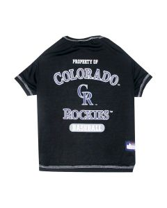 Pets First Colorado Rockies Tee Shirt Pet Gear Medium