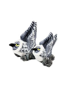 SteelDog Snowy Owl - Ballistic Ballers with Tennis Ball