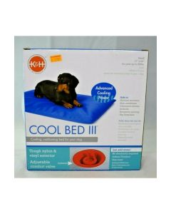 "K&H Manufacturing Cool Bed III Cooling Dog Bed Blue Small 17"" x 24"""