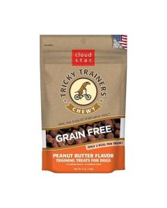 Cloud Star Chewy & Grain Free Low Calorie Peanut Butter Dog Training Treats 5oz