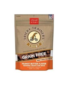 Cloud Star Chewy & Grain Free Low Calorie Peanut Butter Dog Training Treats 12oz