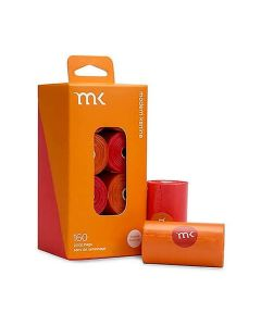Modern Kanine Poop Bags Orange/Coral 160Ct