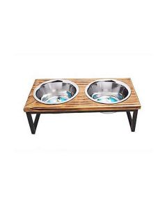 Indipets 1 Pint Contemporary Wooden Double Diner