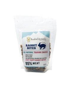 Natural Dog Company Rabbit 95% Meat Training Bites Dog Treats 6oz