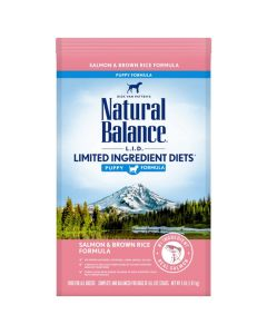 Natural Balance Limited Ingredient Salmon Rice Puppy Dry Dog Food 4lb
