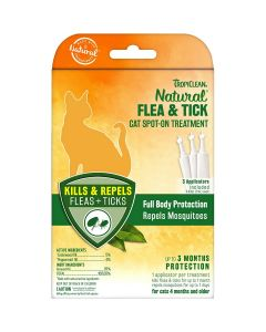 TropiClean Natural Flea & Tick Spot On For Cats Up to 3 Months Protection