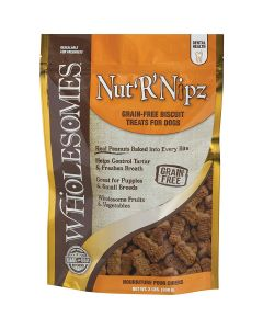 Wholesomes Gourmet Rewards Nut'R'Nipz Grain Free Biscuit Treats for Dogs 2lb
