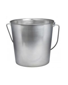 Indipets Heavy Duty Stainless Steel Pails Contoured Handles Comfortable Lifting 4 Quart
