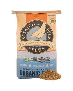 Scratch and Peck Naturally Free Organic Starter Chick Feed Soy and Corn Free 40lb