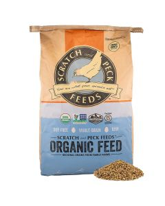 Scratch and Peck Naturally Free Organic Grower Feed For Chickens & Ducks 25lb
