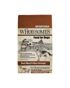 Wholesomes Beef Meal & Rice Formula Dry Dog Food 40lb