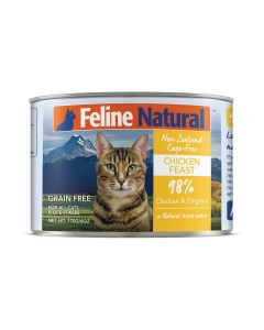 Feline Natural Chicken Feast Canned Cat Food 6oz
