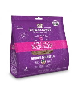 Stella and Chewys Yummy Lickin' Salmon & Chicken Freeze-Dried Raw Dinner Morsels 18oz
