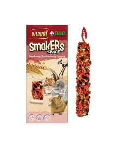 Vitapol Smakers Snack Strawberry Treat Stick for Small Animal