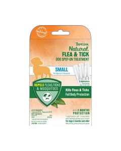 Tropiclean Natural Flea & Tick Spot On Dog Treatment Small