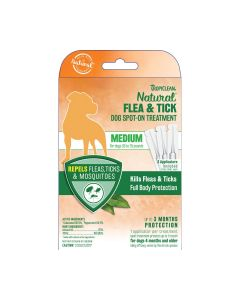 Tropiclean Natural Flea & Tick Spot On Dog Treatment Medium