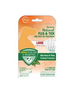 Tropiclean Natural Flea & Tick Spot On Dog Treatment Large