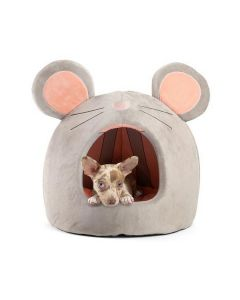 Best Friends by Sheri Mouse Hut Grey/Pink Bed