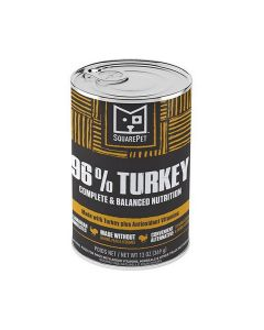 Square Pet Grain Free 96% Turkey Meat Formula Canned Dog Food 13oz