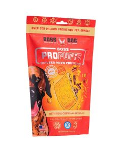 Boss Dog Propuffs Treat for Dogs Real Cheddar Bacon Flavor 6oz