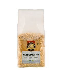 Scratch and Peck Cluckin' Good Organic Cracked Corn Poultry Supplement 40 lb