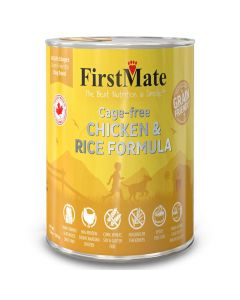 First Mate Cage-free Chicken & Rice Formula for Dogs 12 Cans