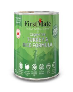 First Mate Cage-free Turkey & Rice Formula for Dogs 12 Cans