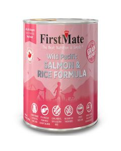 First Mate Wild Pacific Salmon & Rice Formula for Dogs 12 Cans