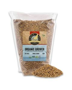 Scratch and Peck Naturally Free Organic Grower Feed For Chickens & Ducks 10lb