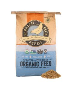 Scratch and Peck Feeds Naturally Free 16% Organic Layer Feed for Chickens & Ducks 25lb