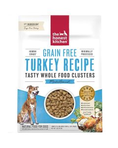 Honest Kitchen Grain-Free Turkey Whole Food Clusters Dry Dog Food 1lb