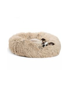 SHAG DONUT BED TAUPE 23x23
