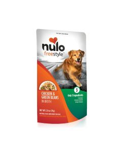 Nulo Freestyle Chicken Green Beans In Broth Recipe Dog Food 28oz Pouch