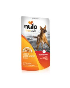 Nulo Freestyle Chicken Salmon Carrot In Broth Recipe Dog Food 28oz Pouch